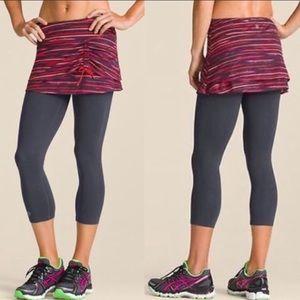 Athleta Painted 2 In 1 leggings/skirt Sz M